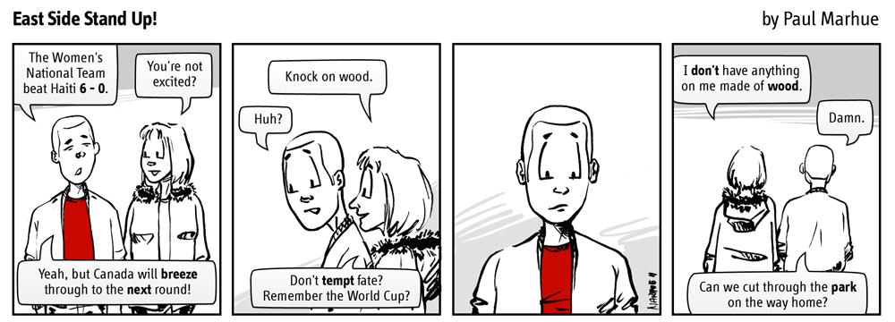 Knock on wood.