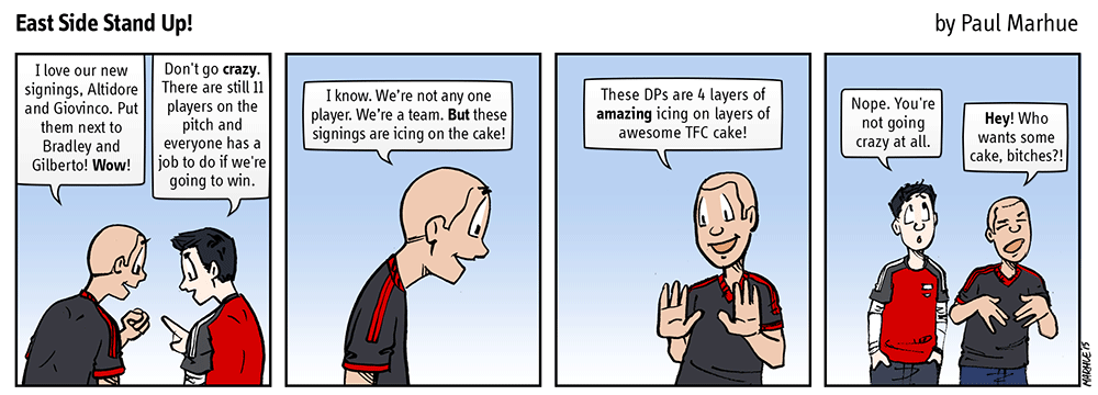 Icing and cake.